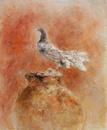 須田寿「鳩と壷」